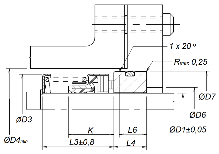 Уплотнение с седлом типа 1C