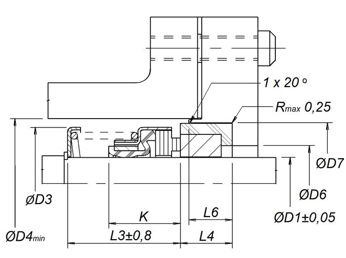 Уплотнение с седлом типа 1В